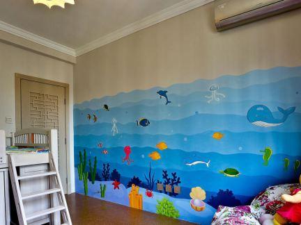 用墙体彩绘来装饰客厅有哪些优势和特点?