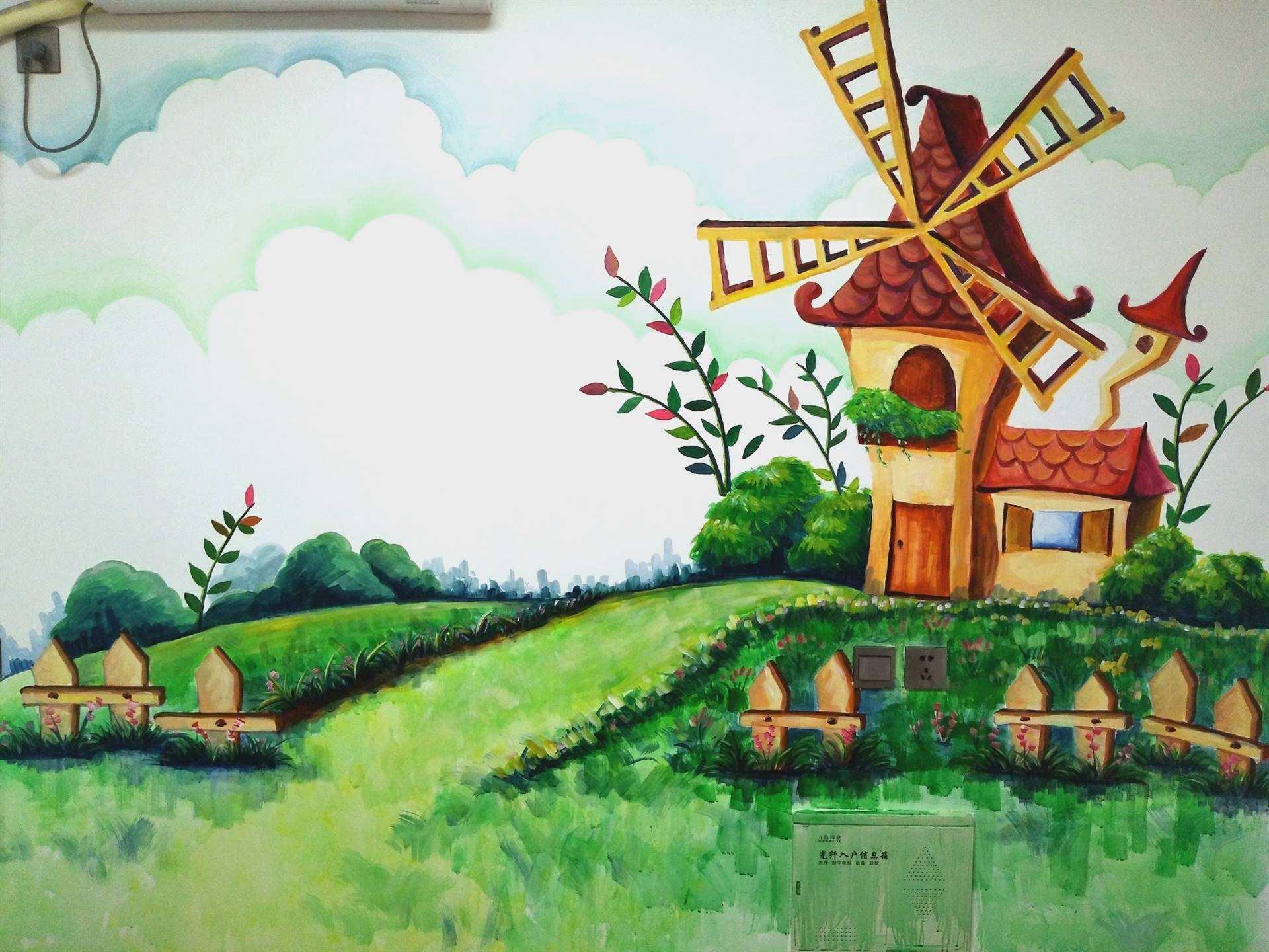 南昌墙画彩绘,南昌墙体绘画公司,南昌新农村墙体彩绘